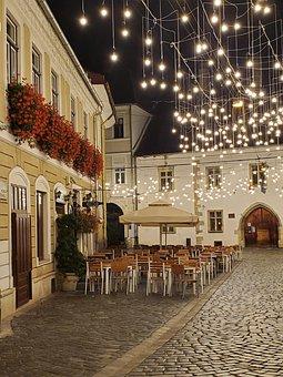 Street, Cafe, Cobblestone, Bistro, Europe