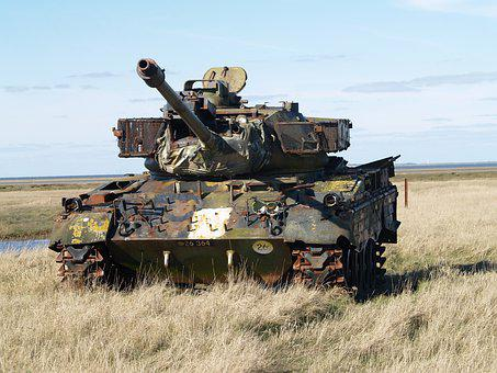 Tank, Panzer, Discarded, Target For Air Force