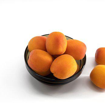 Apricots, Fruit, Food, White Background