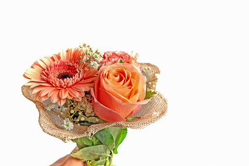 Bouquet Of Flowers, Thank, Gift, Flowers, Give