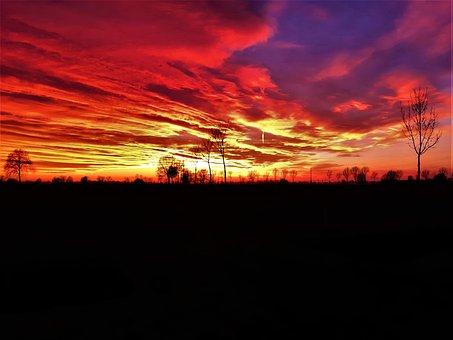 Sunset, Breathtaking, Lovely, Horizon