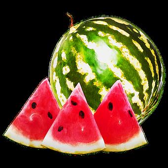 Watercolor Watermelon, Watermelon, Melon, Cantaloupe
