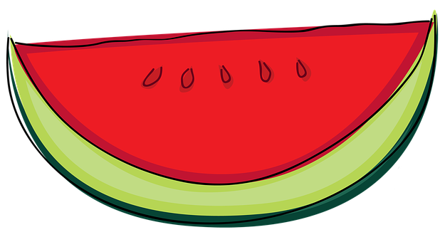 Watermelon, Plant, Fruit, Fresh, Cartoon, Hand, Drawn