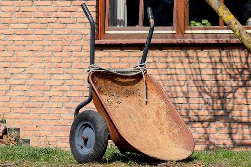 Gardening, Wheelbarrows, Placed, Empty