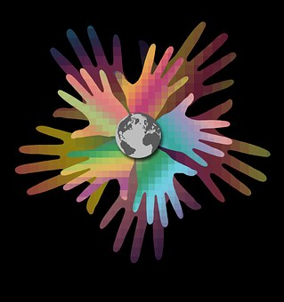 Hands, World, Earth, Planet, Multinational