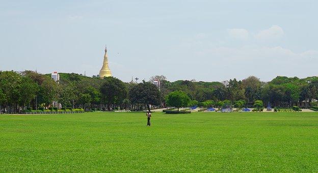 Myanmar, Tatmadaw Park, Revolution Park, Yangon, Pagoda