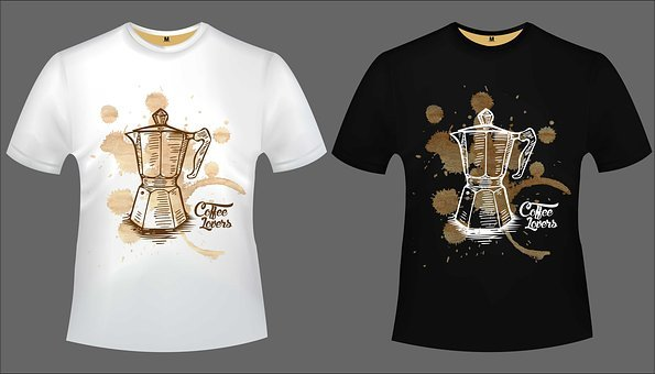 Design, Tshirt, Coffee, Lovers, Print, Moka Pot