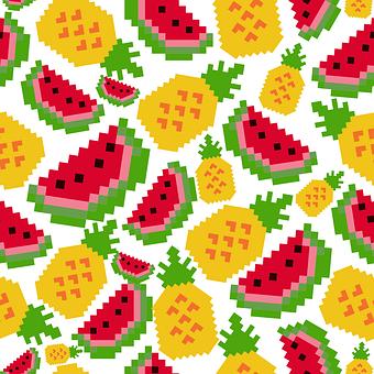 Watermelon, Pattern, Se, Fruit, Summer, Food, Sweet
