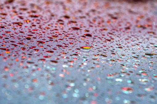 Windshield, Drop Of Water, Iridescent, Beady, Color
