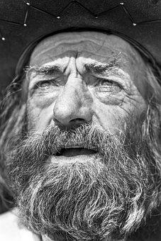Beard, Face, Portrait, Expression, Eyes, Farmer