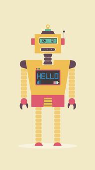 Flat, Design, Robot, Character, Cyborg, Technology