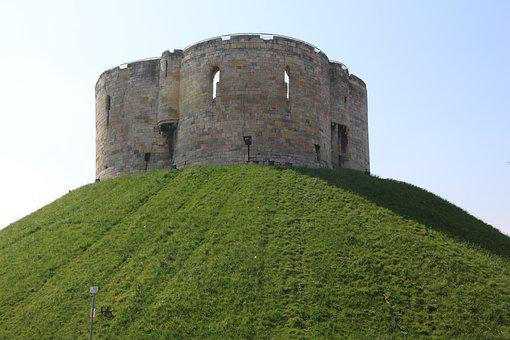 York, Yorkshire, England, Old, Cliffords Tower, Castle