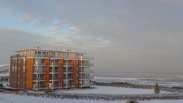 Color Game, Lichtspiel, Winter, Wadden Sea, Cuxhaven