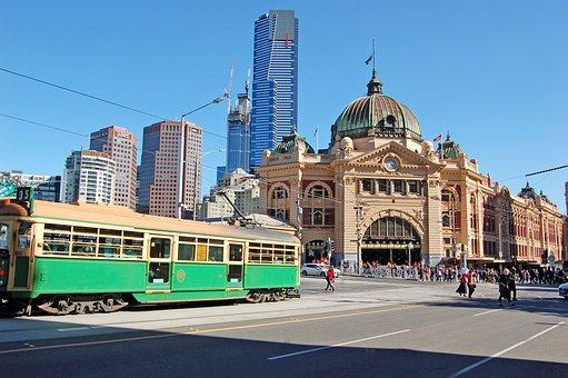 Tram, Flinders Street Station, Melbourne