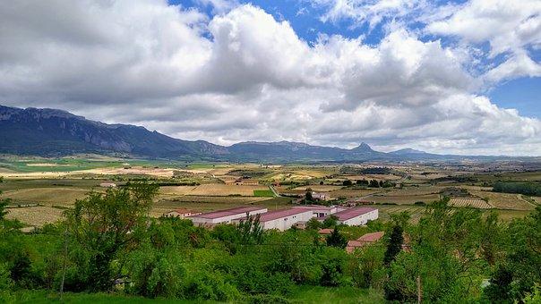 Spain, Rioja, Landscape, Laguardia, Sky, Clouds, Nature