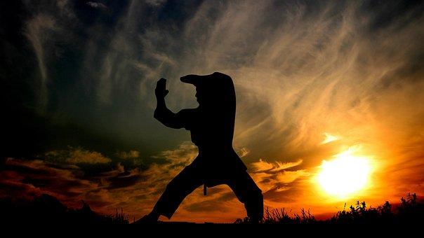 Sunset, Sport, Combat, Karate, Training, Competition