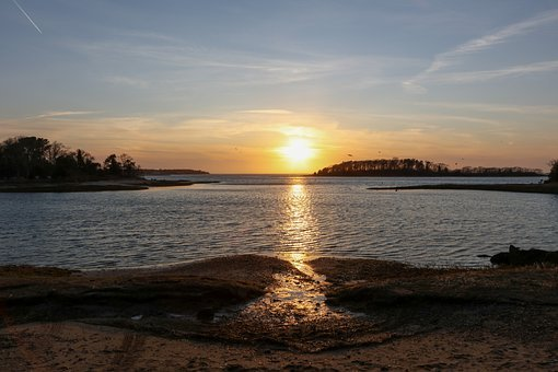 Cape Cod, Bourne, Sunset, Sol, Sky