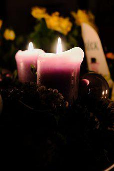 Christmas, Advent Wreath, Advent Candle, Advent, Candle