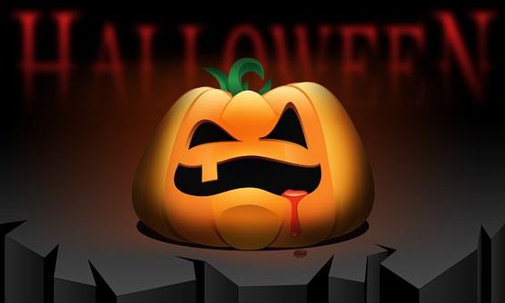 Halloween, Pumpkin, Orange, Rock, Cliff