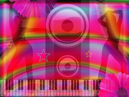 Art, Hippie, Colorful, People, Dancing, Music