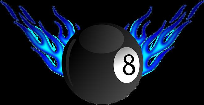 Billiard, Flame, Ball, Pool, Game, Snooker, Eight