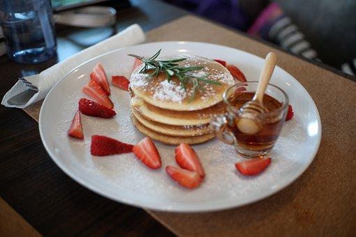 Breakfast, Pancake, Pancakes, Food, Delicious, Plate