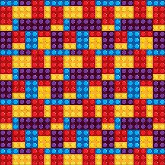 Lego Background, Lego Building Blocks Pattern, Lego
