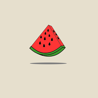 Melon, Melon Cartoon, Watermelon, Green, Food, Eat, Red