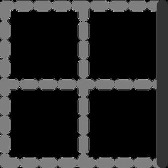 Right, Border, Table, Digital, Cells, Squares, Quarters