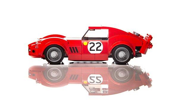 Ferrari, Lego, Toy, Car, Race, Set, Track, Childhood