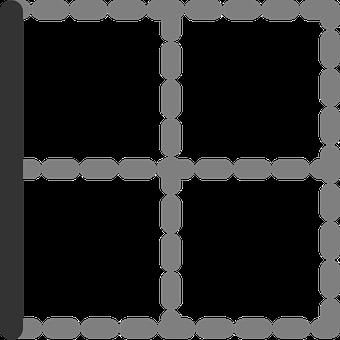Left, Border, Table, Digital, Cells, Squares, White