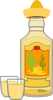 Graphic, Tequila, Tequila Bottle