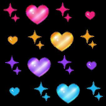 Love, Heart, Romantic, Colorful, Valentine, Transparent