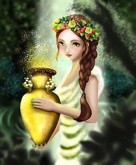Pandora, Women, Greek Mythology, Jar, Hope, Light