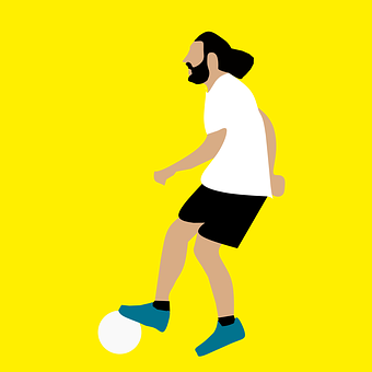 Football, Palyer, Man, Adult, Long Hair, Style, Sport