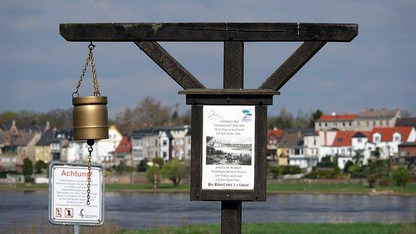 Ferry, Ferryman-reputation, Bell, Crossing, Coswig