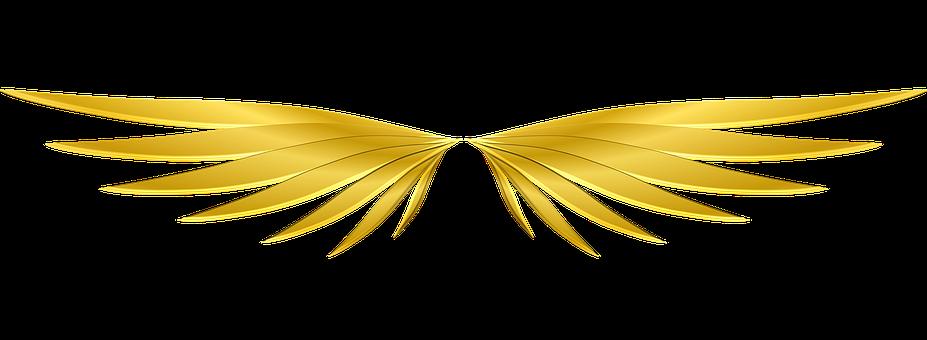 Wings, Gold, Mythological, Fantasy, Symbol, Myth