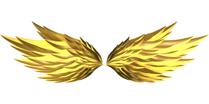 Wings, Gold, Fire, Flames, Mythological, Flame, Burn