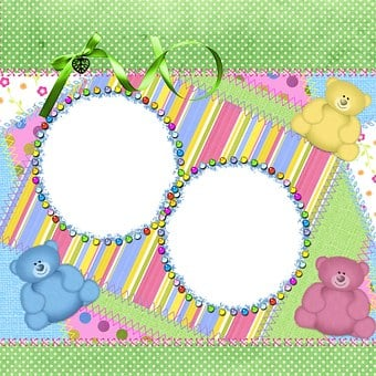 Background, Page, Frame, Scrapbook, Teddy, Bears