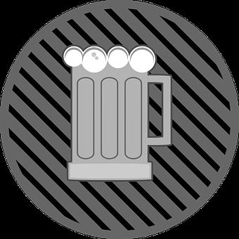 Beer, Glass, Beer Glass, Sticker, Button