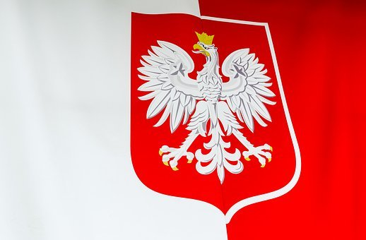 The Coat Of Arms Of Poland, Flag Of Poland, White-red