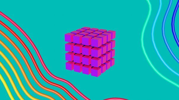 Cube, Abstract, Geometry, 3D, Design
