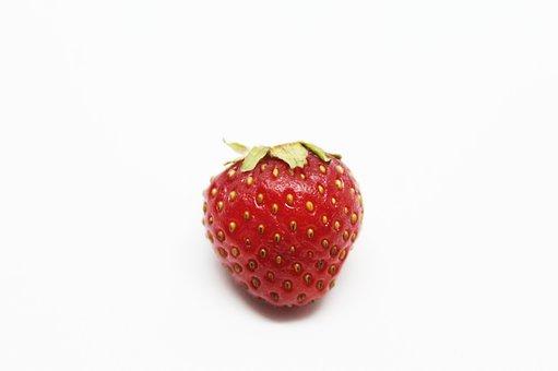 Strawberry, Between, Fruit, Sweet, Red, Juicy