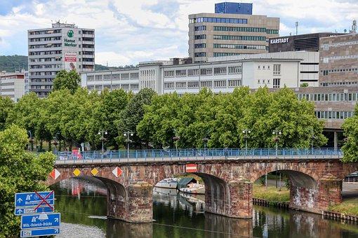 Saarland, Saarbrücken, Saar, Bridge, River City