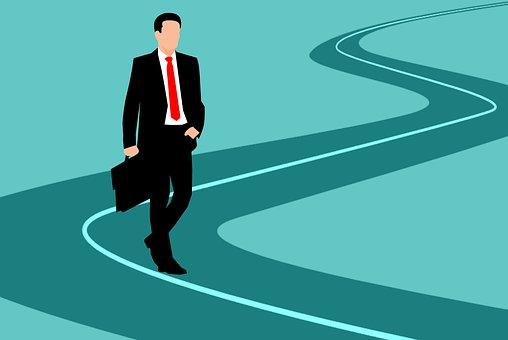 Road, Businessman, Success, Career, Perspective, Man