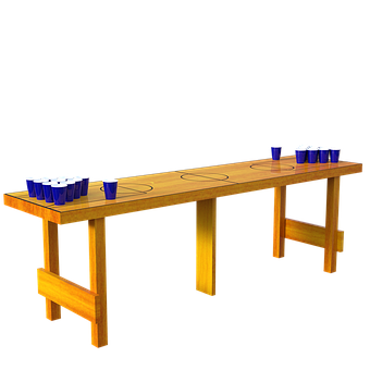 Beer Pong, Table, Cups, Game, Drinking, Plastic, Party