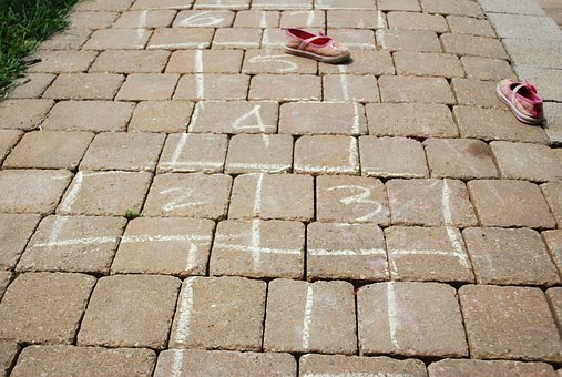 Feet, Shoes, Hopscotch, Warm Weather