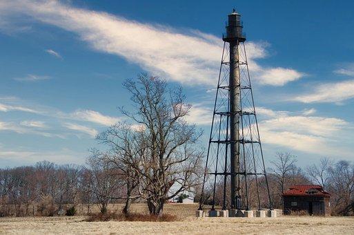 Delaware, Port Penn, Lighthouse, Sky