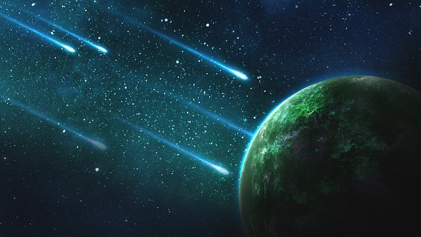 Space, Galaxy, Planet, Universe, Asteroid, Comet