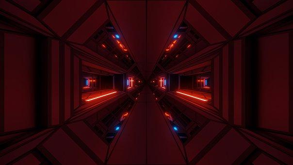 Futuristic Temple, Scifi Temple, Sci-fi Temple, Cross